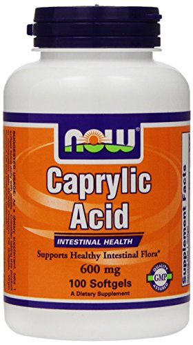 NOW Foods Caprylic Acid 600mg, 100 Softgels