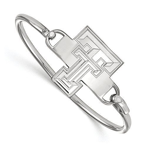 NCAA Sterling Silver Texas Tech University Bangle, 6 inch by LogoArt