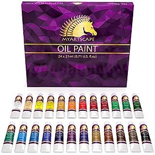 Oil Paint Set - 21ml x 24 Tubes - Artists Quality Art Paints - Oil-Based Color - Professional Painting Supplies - MyArtscape