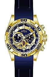 Invicta Men's Aviator Blue Polyurethane Band Steel Case Quartz Analog Watch 21737