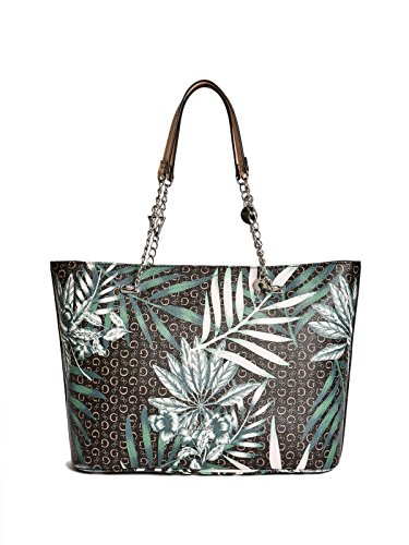 Handbags Women Guess (GUESS Factory Women's Hewlett Tropical Top Chain Handle Tote)