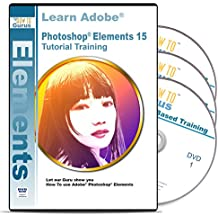 Adobe Photoshop Elements 15 Training on Disc - 3 DVDs 16 Hours 239 Video Tutorial Lessons