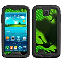 Skin Decal for LifeProof Samsung Galaxy S4 Case - Frog Prints on Leafs Design