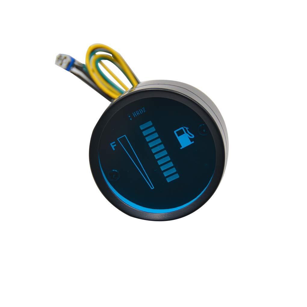 ELENXS Auto-Tankanzeige LED-Kraftstoff-Level Meter-Sensor 12V Motorrad Automobil-Aluminium-Legierung Car Styling Spur