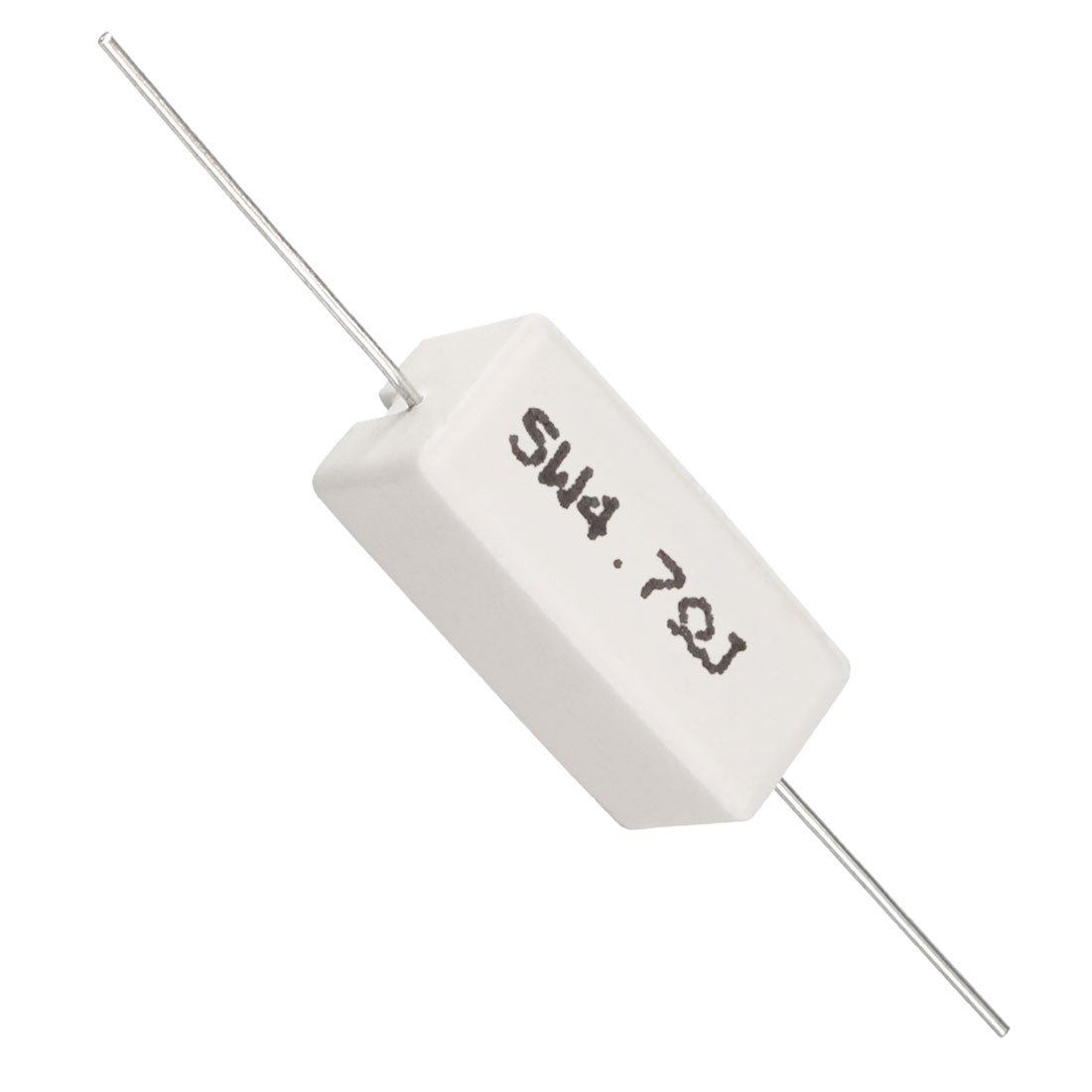 uxcell 10W 10k Ohm Power Resistor Ceramic Cement Resistor Axial Lead 5 Pcs White