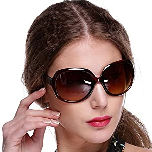 Yiilove Women's Retro Vintage Shades Fashion Oversized Designer Sunglasses