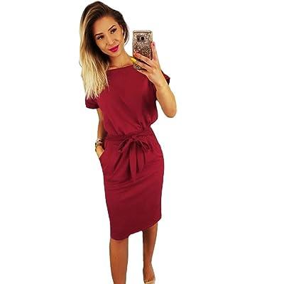 Aburnudrey Vestidos Mujer de Camiseta Suelto Casual: Ropa y accesorios