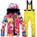 RONSHIN Women Fashion Waterproof Windproof Warm Ski Jacket + Pants Breathable UV Resistant Snow Skiing Snowboarding Suits
