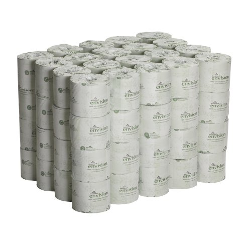 Georgia-Pacific Envision 19880/01 White 2-Ply Embossed Bathroom Tissue, 4.05