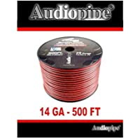 500 FT 14 Gauge Red Black Stranded 2 Conductor Speaker Wire Car Home Audio