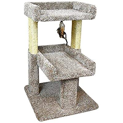 Cat Tree New Cat Condos 110215 Large Cat Play Perch, Large, Neutral [tag]