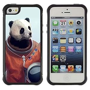 Hybrid Anti-Shock Defend Case for Apple iPhone 6 4.7 6 4.7 Panda Bear Astronaut