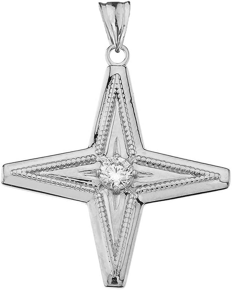 North Star Pendant Star Charm Christ Star Gold Plated Sterling Silver Charm North Star Charm Christmas Star