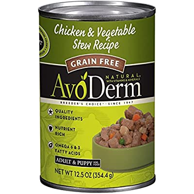 AvoDerm All Life Stages Dry & Wet Dog Food, Grain Free, Chicken & Vegetables Recipe