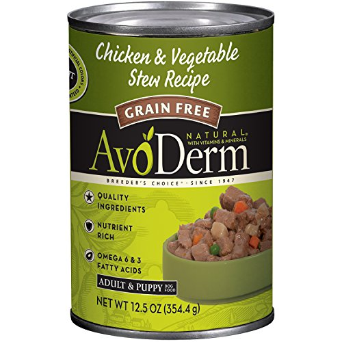 Avoderm Natural Grain Free Chicken & Vegetable Stew Recipe Canned Wet Dog Food, 12.5-Ounce Cans, Case Of 12