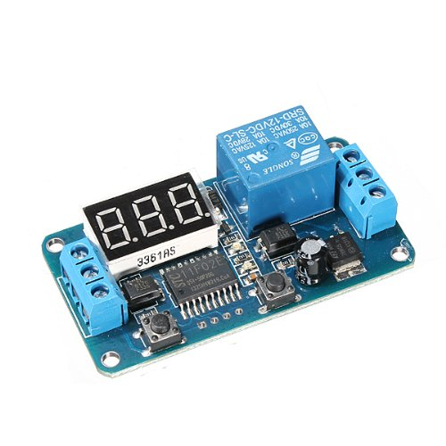 (Dc 12v Led Display Digital Delay Timer Control Switch Module PLC Automation)