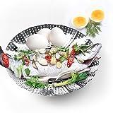 LARGE Vegetable Steamer Basket Set - Steamer Insert for Instant Pot + Safety Tool - 100% Stainless Steel - Pressure Cooker & Instant Pot Accessories, Pot in Pot - Egg Rack