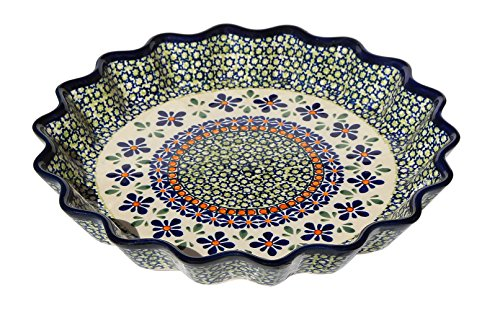 (Polish Pottery Scalloped Pie / Quiche Dish)
