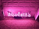 Funny Wall Sign Decor Neon Lights Bedroom Beer Bar Home Room Decor Girls Lamp Night Light Decorative Custom Pink - It is What it is