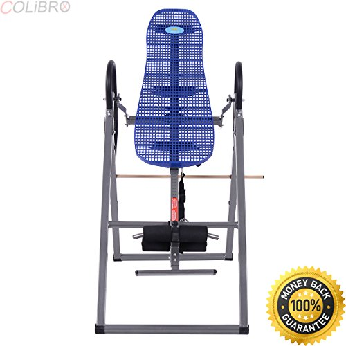 COLIBROX--Foldable ABS Inversion Table Gravity Therapy Back Pain Fitness Reflexology Blue. stamina products gravity inversion therapy table.best calm brand inversion table amazon.calm inversion table. by COLIBROX