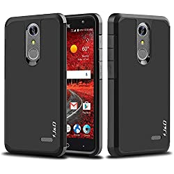 Grand X4 Case, Grand X 4 Case, J&D [ArmorBox] [Dual Layer] Hybrid Shock Proof Protective Rugged Case for ZTE Grand X4, Grand X 4 - Black