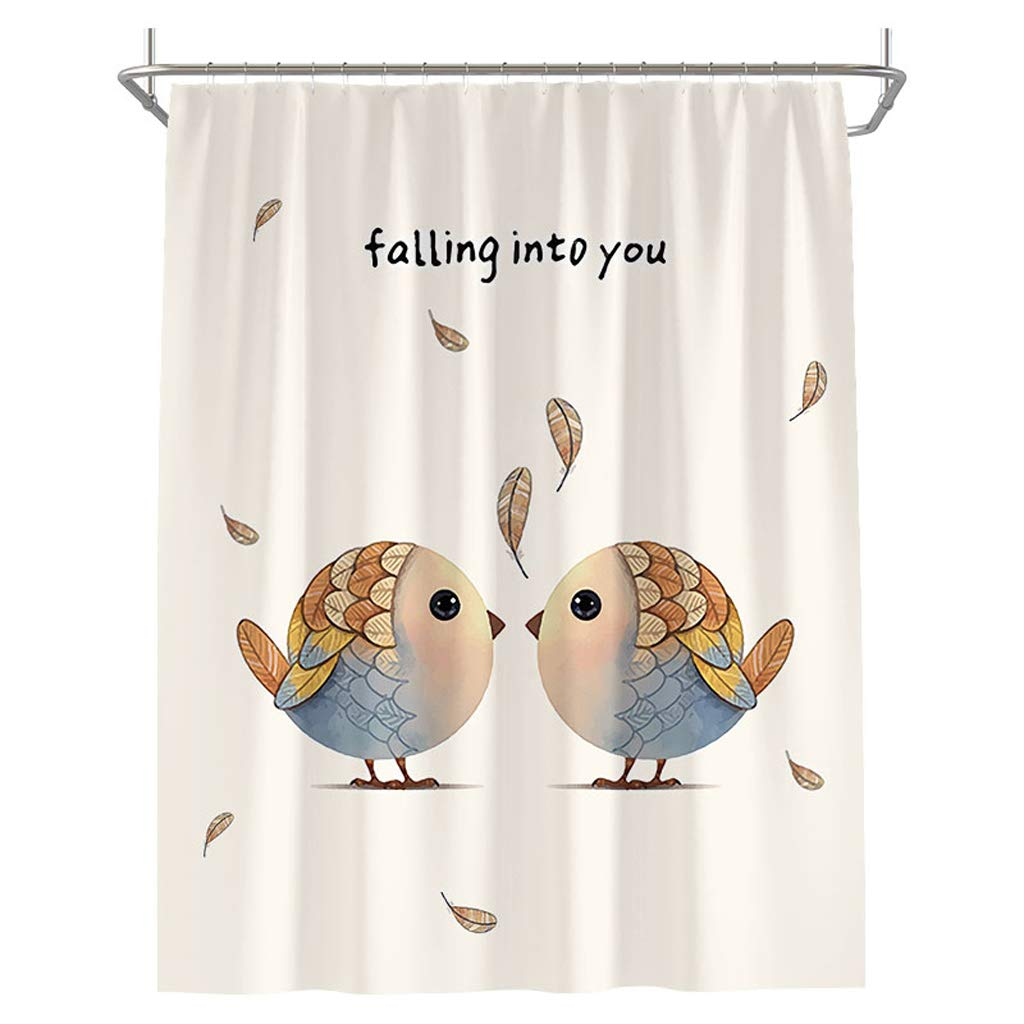 Curtain Nordic Style Waterproof Mildew Shower Curtain, Bathroom Water Curtain Shower Water Thickening Shading Opaque Partition Curtain Shower Equipment (Size : 150200cm)