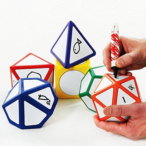 Whiteboard Customised Play Dice Set Of 6 by Sportsgear US