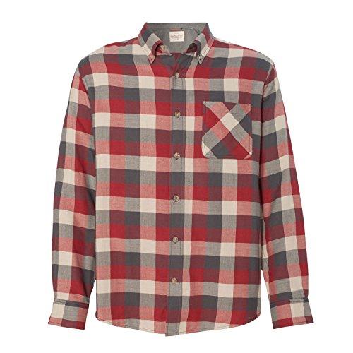Weatherproof Mens Vintage Brushed Flannel Long Sleeve Shirt (164761)