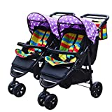 Twin Double Infant Toddler,Stroller Baby Easy Foldpurple Star