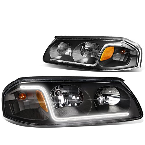 - DNA Motoring Black amber HL-LB-CI00-BK-AM Pair of Headlight Assembly [for 00-05 Chevy Impala]