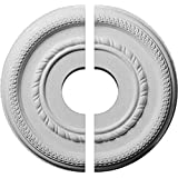 """Ekena Millwork CM12FE2-03500 12 5/8""""OD x 3 1/2""""ID x 1 1/8""""P Federal Roped Small Ceiling Medallion, Fits Canopies up to 6"""", 2 Piece"""