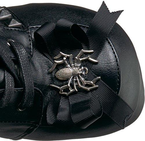 150 Charade Demonia Women's High Vegan Leather Knee Black Boot Black wUUExr
