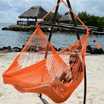 Sunset Orange Caribbean Swing by Tropic Island Hammocks