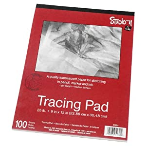 "Darice 9""x12"" Artist's Tracing Paper, 100 Sheets – Translucent Tracing Paper for Pencil, Marker and Ink, Lightweight, Medium Surface"