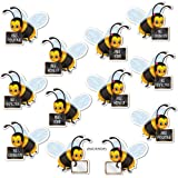 Message Bees (backside blank for personalization)    (10/Pkg)