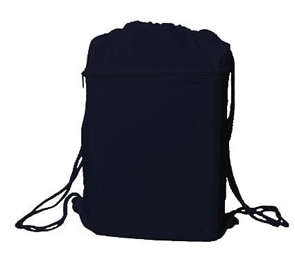 Amazon.com | Navy Blue Drawstring Cinch Sack Backpack Bag ...