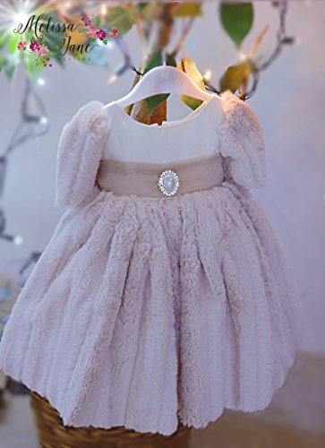 Baby's Minky Luxury Fur Dress by MelissaJaneDesigns
