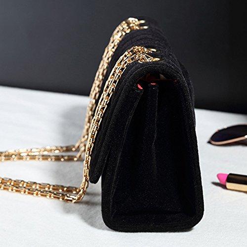Borsa A Tracolla Da Donna Trapuntata Pochette Borsa Borsetta Sera Hobo Messenger Borse a Spalla Oro Nero