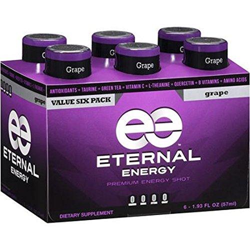 - Eternal Energy Premium Energy Shot, Grape, 1.93 Fl Oz, 6 Count