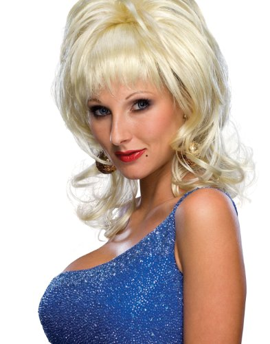 Rubie's Costume Co 51687 Dolly Parton Country Singer Blonde Wig, Small