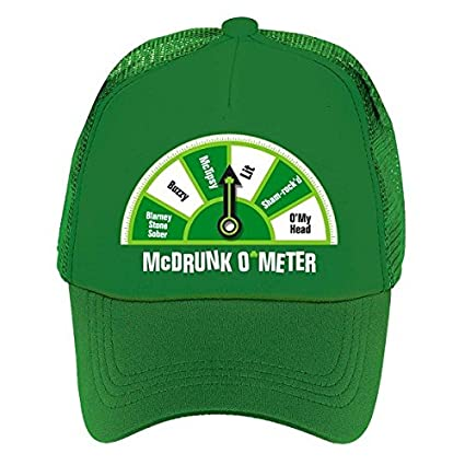 40f4b1480 Amazon.com: Amscan St. Patrick's Day Green McDrunk O'Meter Hat ...
