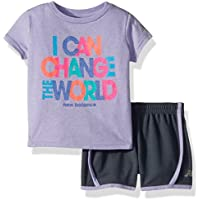 New Balance Girls' Toddler Athletic Tee and Short Set