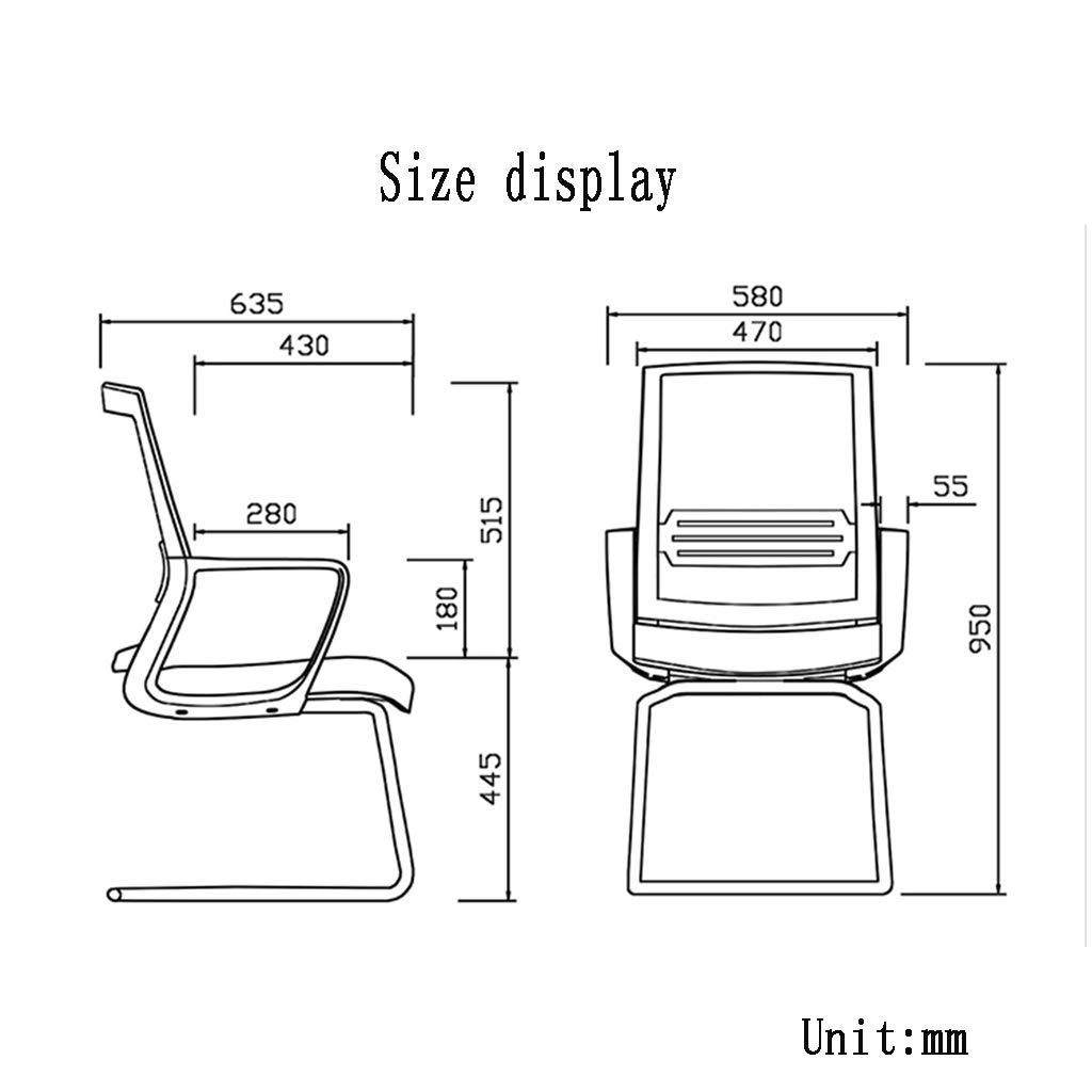 ZZHZY BBGS mesh kontorsstol, välvda fötter personal dator konferensstol ryggstöd student arbetsrum stol konferensrum stol (färg: A) a
