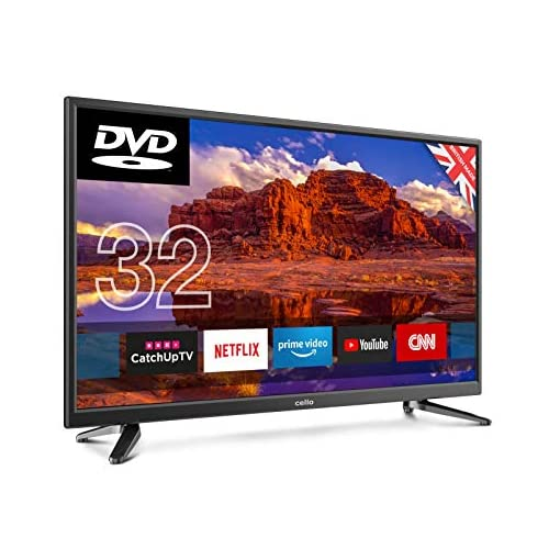 Cello 32″ C32SFSD Superfast Smart LED TV with Built-In DVD Player