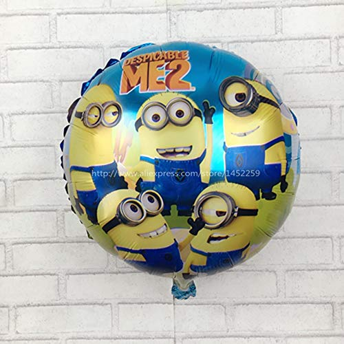 Best Quality - Ballons & Accessories air Balls Minions Balloons Despicable Me Balon Helium Minion Party Decoration Ballon Printed I-069 - by LA Moon's - 1 PCs -