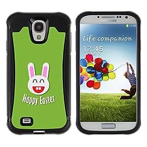 Suave TPU GEL Carcasa Funda Silicona Blando Estuche Caso de protección (para) Samsung Galaxy S4 IV I9500 / CECELL Phone case / / Easter Happiness White Rabbit Big Ears /