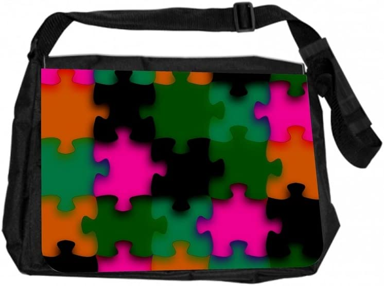 TM Laptop Messenger Bag Puzzle Print Rosie Parker Inc
