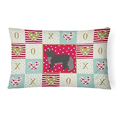Caroline's Treasures CK5643PW1216 Maine Coon #2 Cat Love Canvas Fabric Decorative Pillow, 12H x16W, Multicolor : Garden & Outdoor