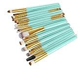 VESNIBA 20 pcs/set Makeup Brush Set tools Make-up Toiletry Kit Wool Make Up Brush Set (Gold -2)
