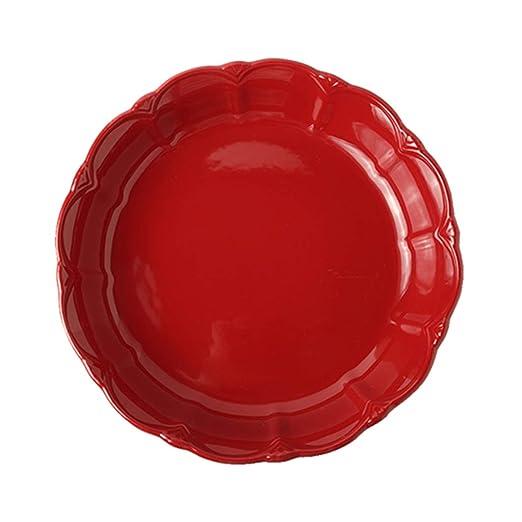 Bandeja de Pizza Creativa Bandeja para Hornear de cerámica ...